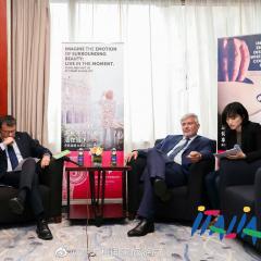 Interprete x il Ministro Gian Marco Centinaio e Sig. Giorgio Palmucci